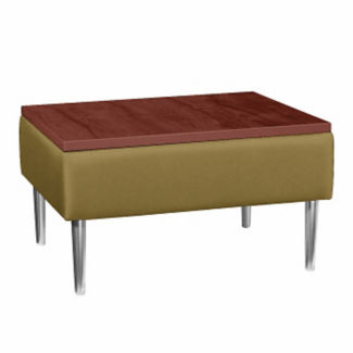 Square End Table with Vinyl Upholstery, W60667