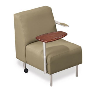 Tablet Arm Chair with Vinyl Upholstery, W60671