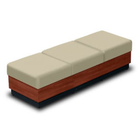 Three-Seat Bench with Vinyl Upholstery, W60684