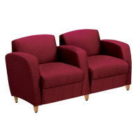 Fabric Lounge Two Seat Sofa with Arms, W60729