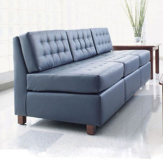 Standard Fabric or Vinyl Tufted Armless Sofa, W60730