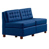 Heavy Duty Fabric Tufted Armless Loveseat , W60731