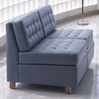 Standard Fabric or Vinyl Armless Loveseat , W60732