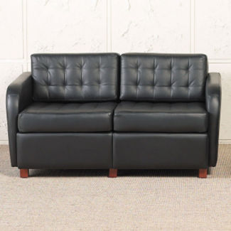 Standard Fabric or Vinyl Tufted Three Seat Sofa, W60737