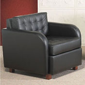 Heavy Duty Fabric Tufted Armless Chair, W60742