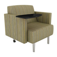 Fabric Tablet Arm Lounge Chair, W60743