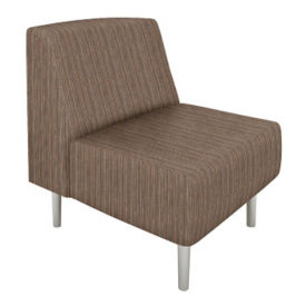 Fabric Armless Club Chair, W60745