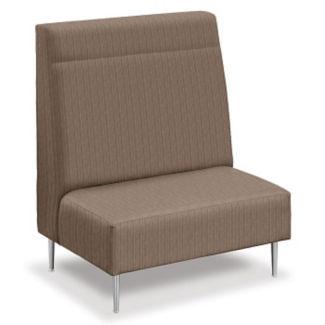 Fabric High-Back Loveseat, W60753