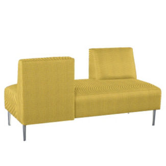Fabric Armless Lounge Sofa with Opposing Backs , W60769