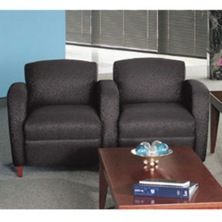 Print Fabric Lounge Two Seater with Tapered Arms, W60773