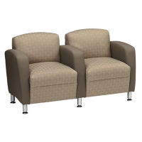 Fabric Two-Toned Dual-Seat Lounge Chair, W60776