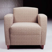 Print Fabric Lounge Chair with Tapered Arms, W60777