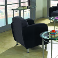 Fabric Two-Toned Lounge Chair, W60778