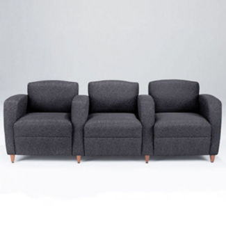 Print Fabric Lounge Three Seater with Tapered Arms, W60779