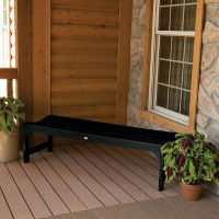 """Synthetic Wood Parson Leg Outdoor Bench 48""""W, F10003"""