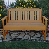 "Synthetic Wood Vertical Slat Outdoor Bench 60""W, F10000"