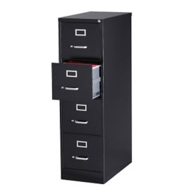 "26.5""D Four Drawer Letter Vertical File , L40814"