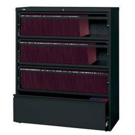 "42""W Five Drawer Roll Out Binder Lateral File, L40019"
