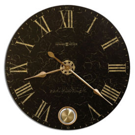 "Brass Pendulum Wall Mountable Clock- 32"", V21854"