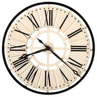 "Metal Antique White Wall Mountable Clock- 31.5"", V21856"