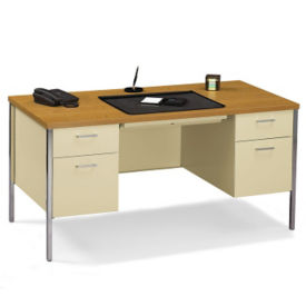 "Double Pedestal Desk 60""W x 30""D, D34060"