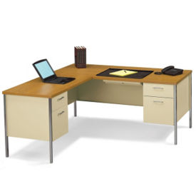 Steel L Desk with Left Return, D34062