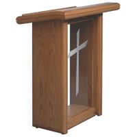 Plexiglass Pulpit with Leather Inset Top, C30117