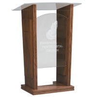 Plexiglass Pulpit with Plexiglass Top, C30120