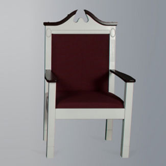 Fabric Pulpit Side Chair, C30125
