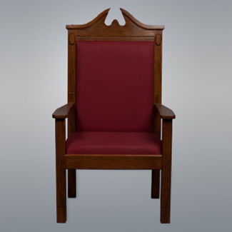 Fabric Wood Stained Pulpit Side Chair, C30127