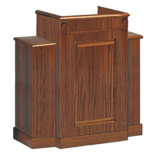 "Wood Stained Winged Pulpit - 48""H, C30136"