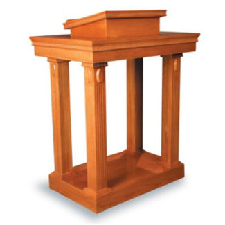 "Wood Stained Open Pulpit - 46""H, C30137"
