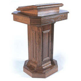 "Lift Lid Pedestal Pulpit - 45""H, C30138"