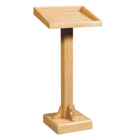 "Raised Base Wood Lectern - 45""H, C30144"
