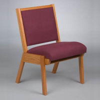 Fabric Chair with Book Rack, C30155