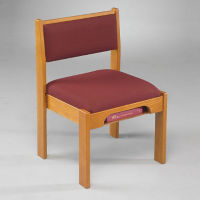 Fabric Stack Chair with Bookrack, C30156