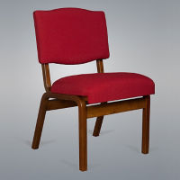 Fabric Church Chair with Arms, C30158