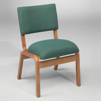 Fabric Armless Bentwood Stack Chair, C30159