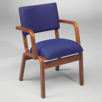 Fabric Bentwood Chair with Arms, C30160