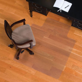 "Smooth Chair Mat with Lip for Hard Floors 45"" x 53"", W60580"
