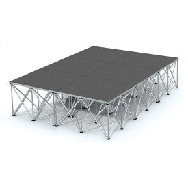 Rectangular Carpeted Stage Set - 12'W x 24'H, P60035