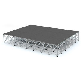 Rectangular Carpeted Stage Set - 12'W x 24'H, P60039