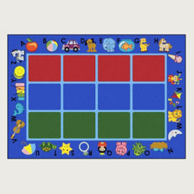 "Alphabet Phonics Rectangle Rug 65"" x 92"", P40061"