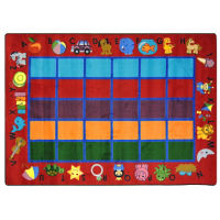"Alphabet Phonics Rectangle Rug - 129"" x 92"", P40062"