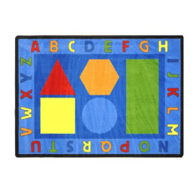 "Alphabet Shapes Rectangle Rug 65"" x 92"", P40073"