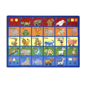 "Animal Phonics Rectangle Rug 92"" x 129"", P40078"