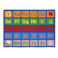 "Any Day Alphabet Rectangle Rug 92"" x 129"", P40088"