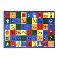 "Around the Block Rectangle Rug 65"" x 92"", P40090"