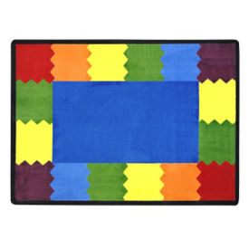 "Block Party Rectangle Rug 92"" x 129"", P40101"