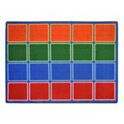 "Blocks Abound Rectangle Rug 129"" x 158"", P40110"